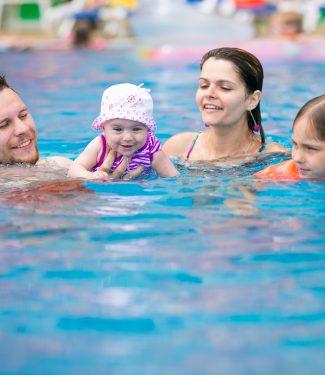 Family Swimming Image