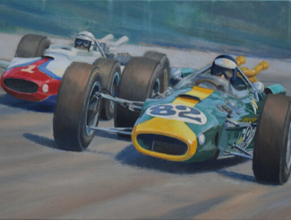 Clark on Canvas at the Jim Clark Motorsport Museum Image