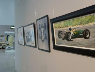 Clark in Art @ Jim Clark Motorsport Museum Image